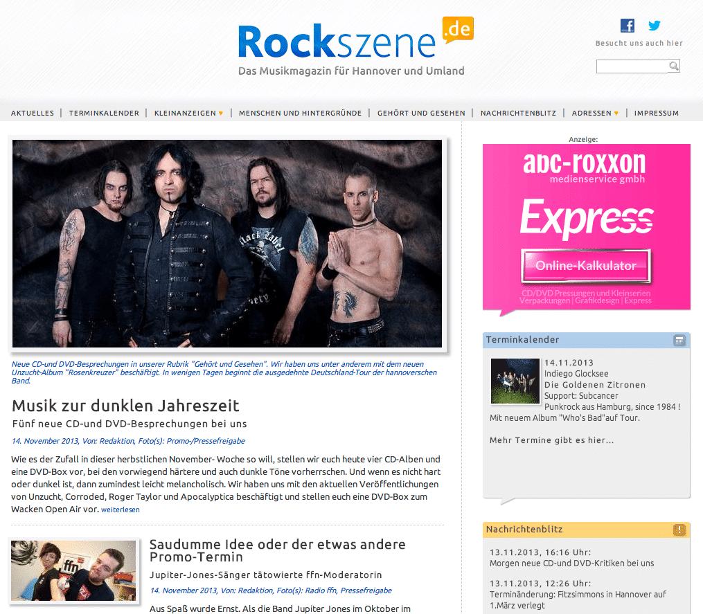 Rockszene.de (Screenshot)